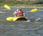 Karen Callahan Kayaking the Colorado River Rapids