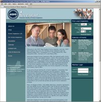 Website Redesign for ASHI New England After image