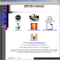 Website Redesign for ASHI New England Before image