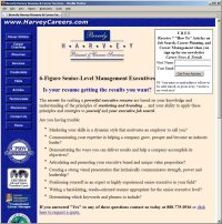 Website Redesign for Harvey Careers Before image