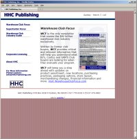 Website Redesign for HHC Publishing Before image