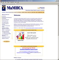 Website Redesign for MaMHCA  After image