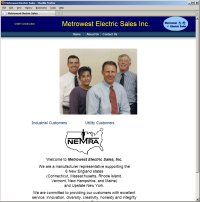 Website Redesign for Metrowest Electric Sales Before