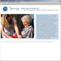 Website Redesign for Synergy HHC Before
