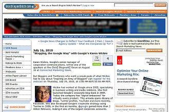 Blogging the Google Way Webinar