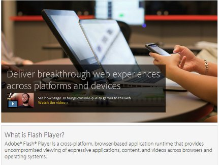 Adobe Flash web page 11-13-11
