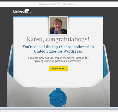 Top WordPress Consultant on LinkedIn